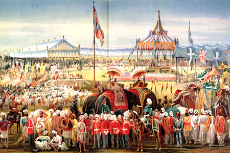 The Delhi Durbar of 1877 was held on a cold January morning in Coronation Park to proclaim Queen Victoria the Empress of India