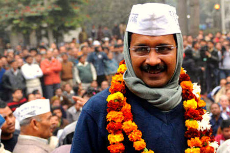 Delhi Chief Minister Arvind Kejriwal pulled off a David vs Goliath in the capital's much-watched poll.