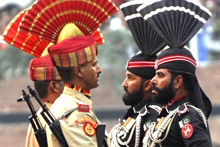 Calibrated hostility at the Wagah Border between India and Pakistan