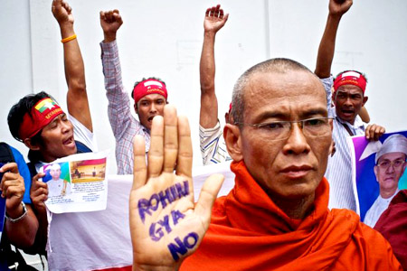 Myanmar Buddhist hardline monks say no to Rohingyas