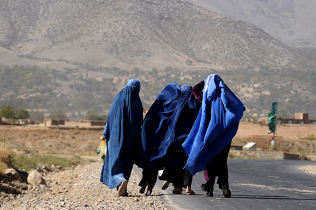 In Afghanistan the battle for gender equality is the forgotten second war, Afghan women in burqas